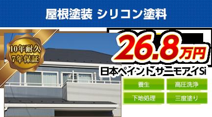 南大阪の屋根塗装料金 遮熱シリコン塗料 10年耐久