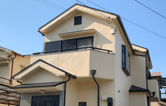 施工事例 外壁塗装 屋根塗装 ベランダ防水 付帯塗装 雨樋工事